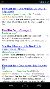 mobile icons in Google smartphone search results